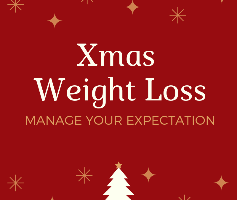 Xmas weight loss: Manage Your Expectation