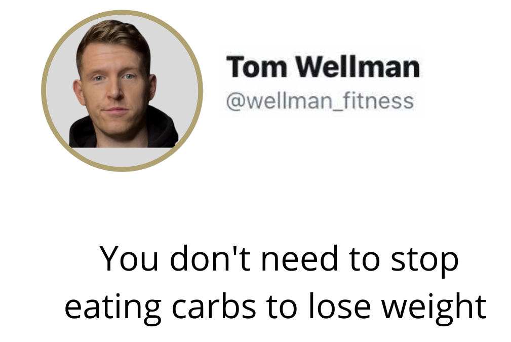 You don't need to stop eating carbs to lose weight